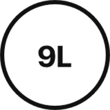 9 litre volume icon