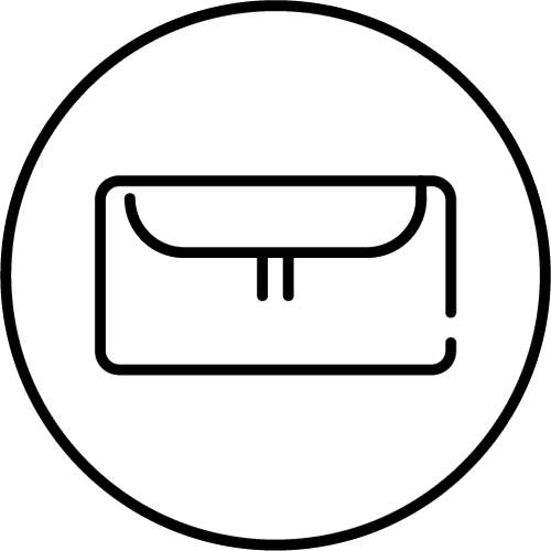 U shaped closure feature icon