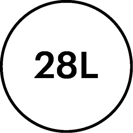 28 litre volume feature icon