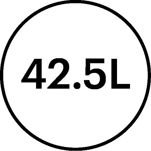 icône de description Volume 42,5litres