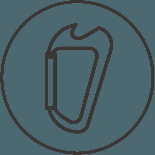 icône de description Mousqueton ouvre-bouteille