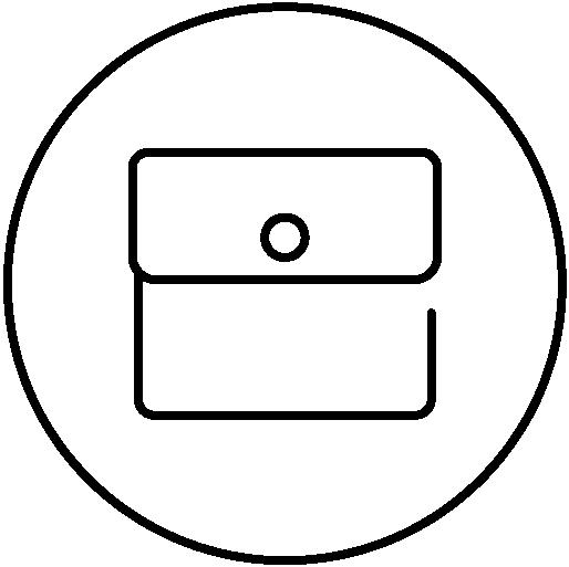 Internal coin pocket icon